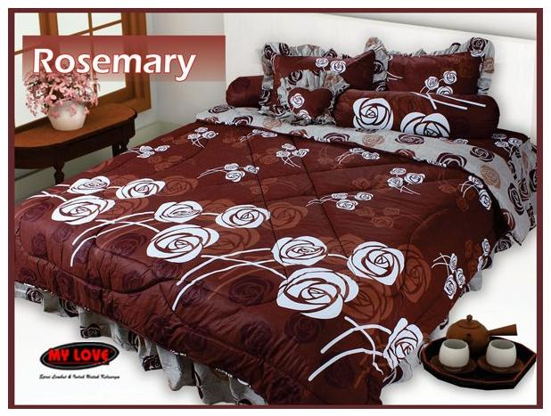 harga bed cover my love 3