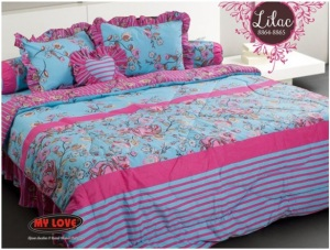 My Love Bedcover Lilac